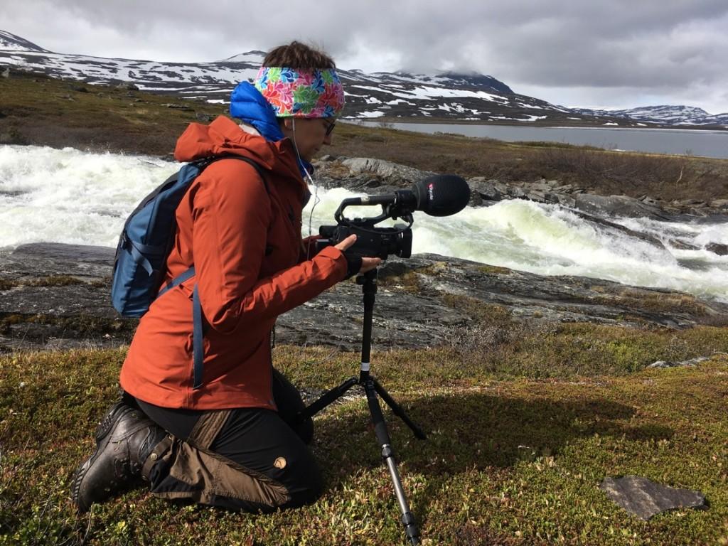 """Filminspelning """"Fjällfolk"""" i Staloluokta juni 2017."""