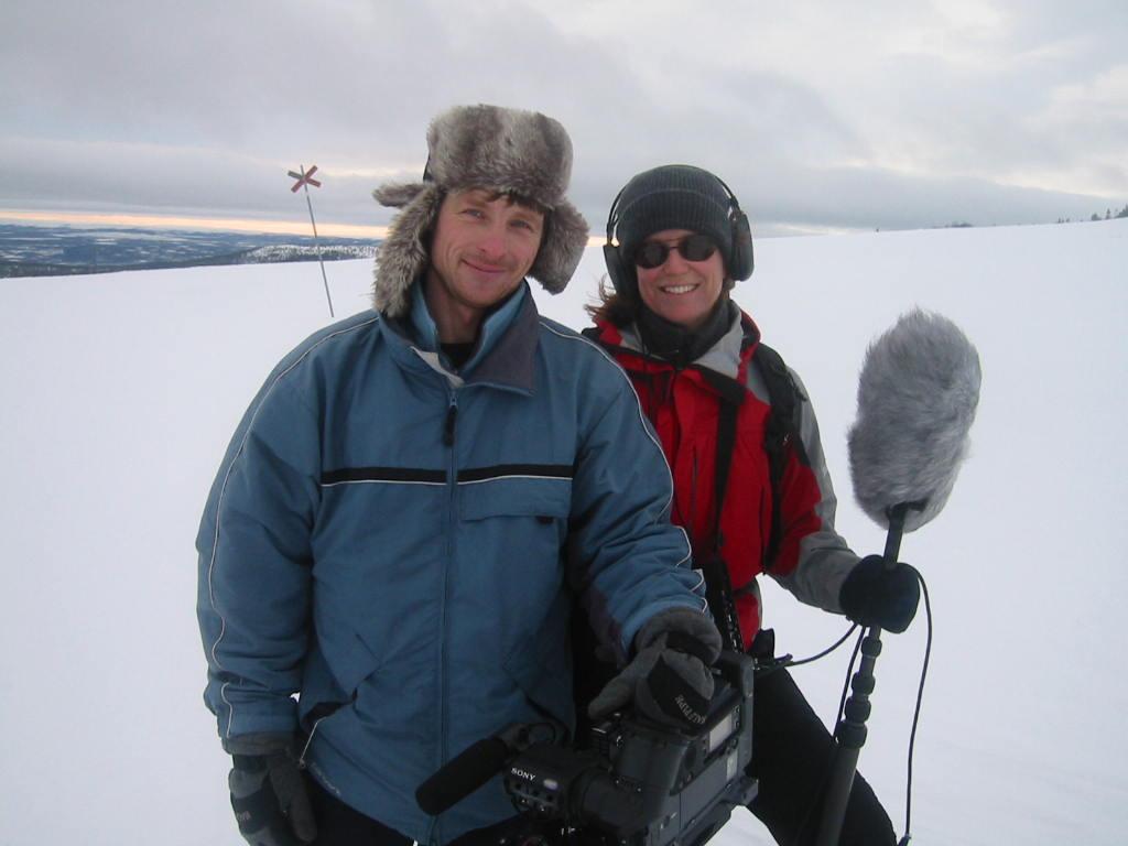 Filmteamet Gunnar Zetterberg och Pia Johansson- Upptäcksresande Titti Strandberg
