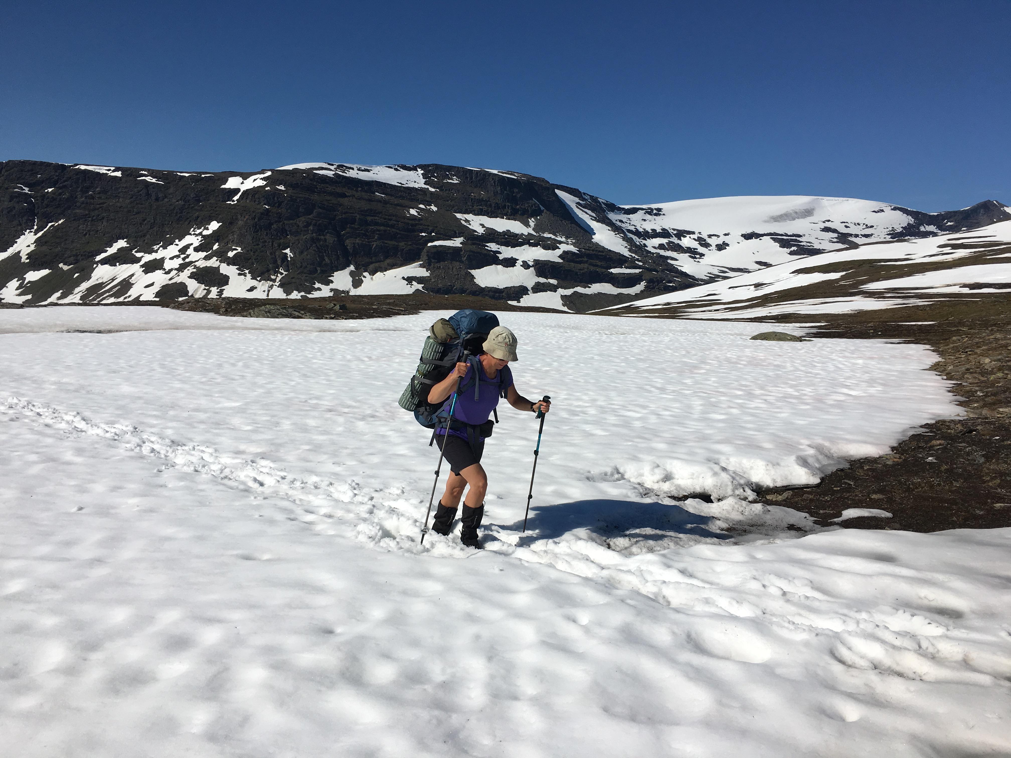 Snöfält på Nordkalottleden-Samefolk